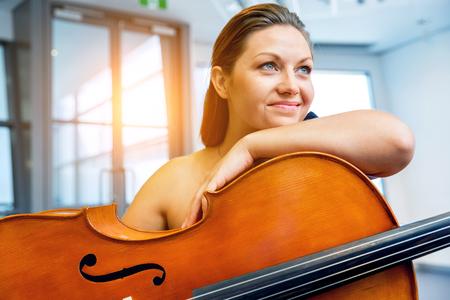 Woman with a cello