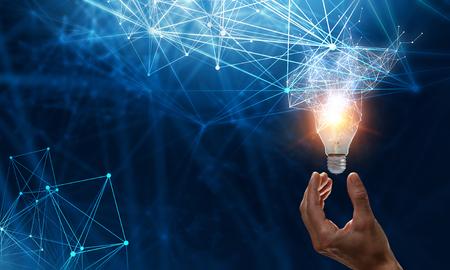 Concept de nouvelles idées et innovation