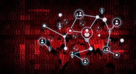 Communication sociale et réseautage. Technique mixte