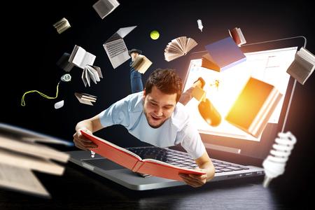 La lecture comme auto-éducation. Technique mixte