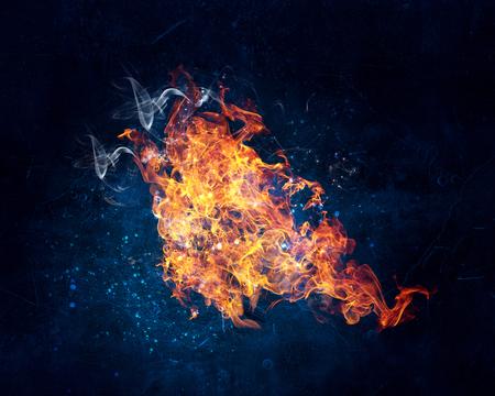Fire burning bright