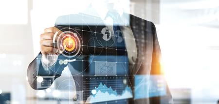 Media technologies for business. Mixed media Stockfoto