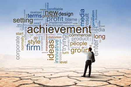 Keywords for effective business concept. Mixed media Foto de archivo - 115008571