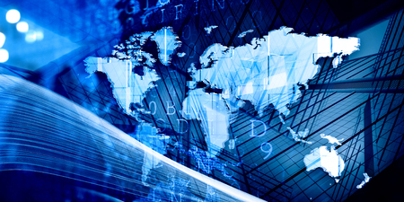 Modern international business Stock Photo