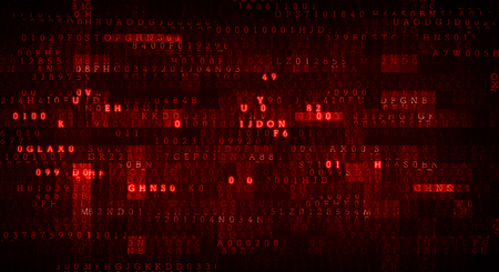 Digital background image with net attack idea Stock Photo