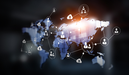 Concept of global networking Stock Photo