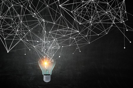 Light bulb and connection. 3d rendering