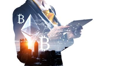 Modern technologies for business. Mixed media Zdjęcie Seryjne - 117676648
