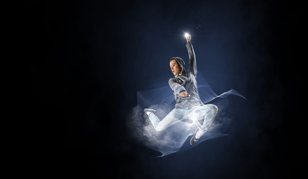 Dance is her passion 免版税图像