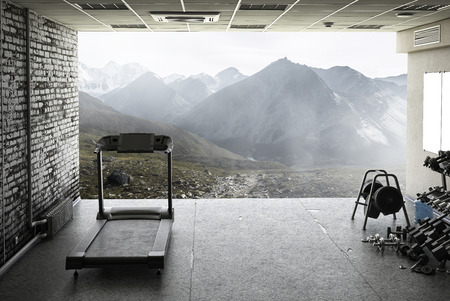 Treadmill at home 스톡 콘텐츠