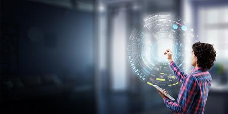 Virtual technologies as concept. Mixed media Reklamní fotografie