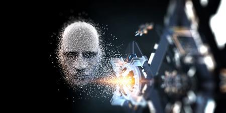 Digital head, artificial intelligence concept