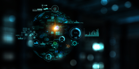 Future technology, digital screen board