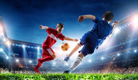 Little soccer champions. Mixed media 版權商用圖片
