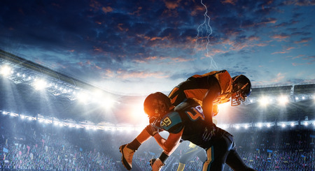 American football theme - hottest match moments. Mixed media