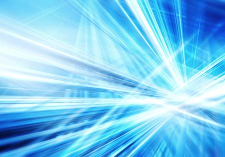 abstrakter Hintergrund mit geraden, sich kreuzenden leuchtenden blauen und weißen Linien Standard-Bild