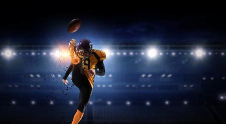 American football theme - hottest match moments. Mixed media Stok Fotoğraf