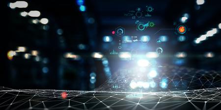 Future technology, digital screen hologram