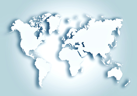 World digital outlined map background Stock Photo - 123588463
