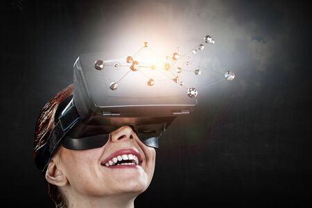 Virtual reality experience and technologies of the future. Mixed media