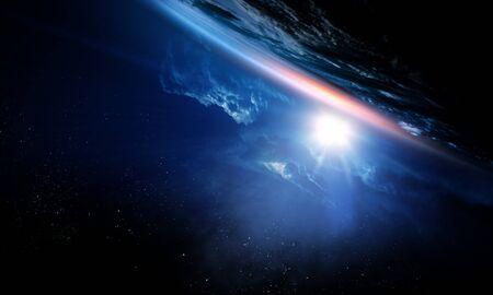 Belleza del espacio profundo. Órbita del planeta.