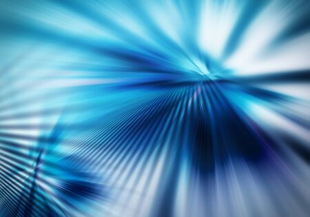 abstract background with straight rays of spreading light in blue colour