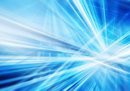 abstract background with straight intersected luminous blue and white lines
