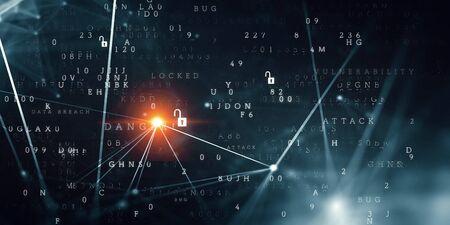 Future technology, digital screen background