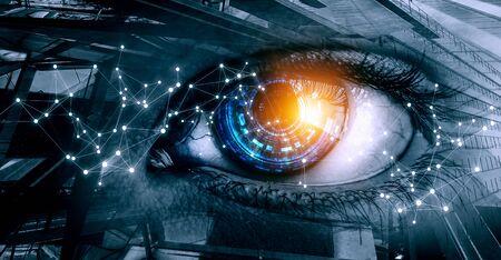 Concepto abstracto ojo de alta tecnología