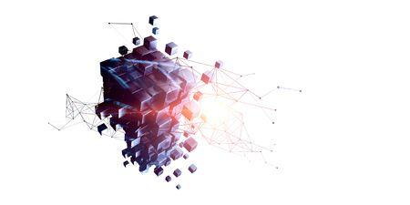 Puzzle cube avec schéma de réseau