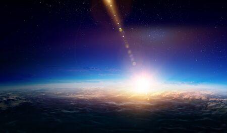 Planètes abstraites et fond de l'espace Banque d'images