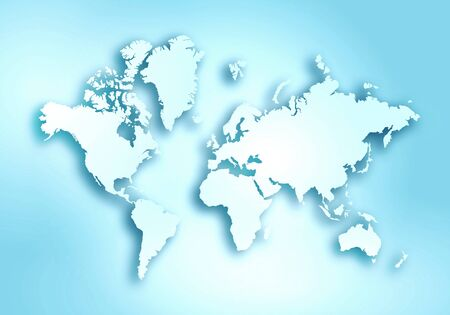 World digital outlined map background