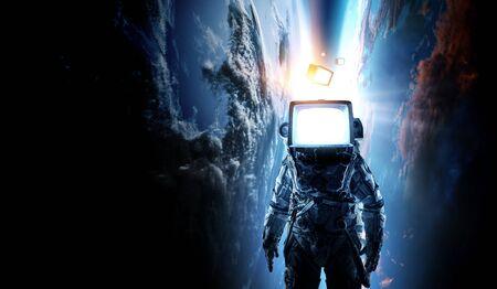 Monitor headed astronaut