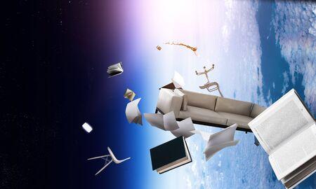Office objects flying on orbit