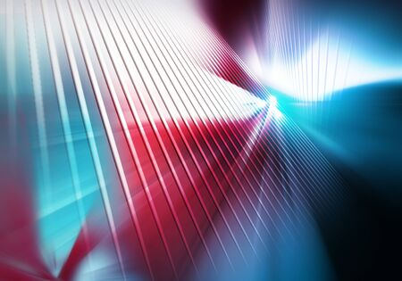 abstract geometric background of surfaces with straight vertical lines flashed with white light