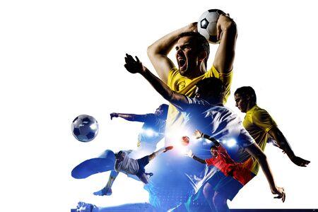 Abstraktes Fußballthema - heißeste Spielmomente