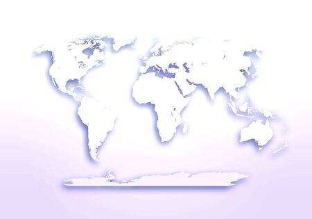 World digital outlined map background Stock Photo - 127275984