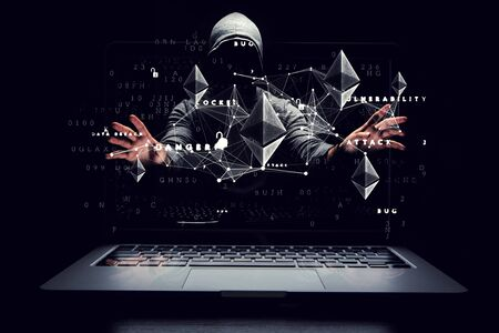 Haking into crypto world Imagens