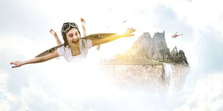 I can fly. |Mixed media