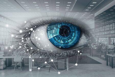Abstract high tech eye concept Stockfoto