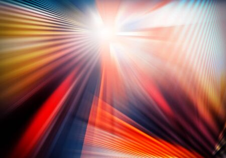 abstract bright background with light and crossed lines of light spreading in different directions and intercrossing