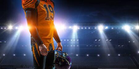 American football player Reklamní fotografie