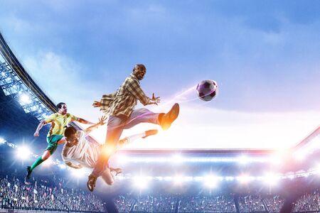 Black man plays his best soccer match