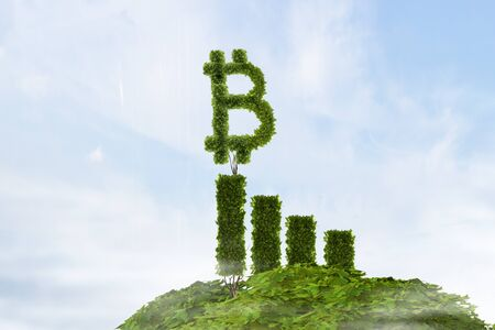Green concept of crypto currency 写真素材