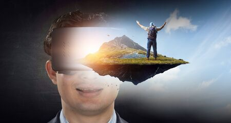 Virtual reality experience. Technologies of the future.