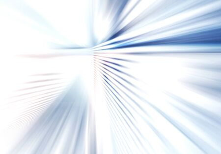 abstract background of bright soft light with stripes directed from center outwards in white, grey and blue colour