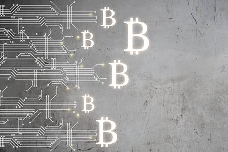 The concept of crypto currency coding Banque d'images - 128812341