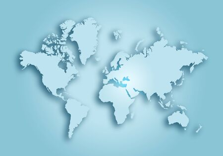 World digital outlined map background Stock Photo - 129627644
