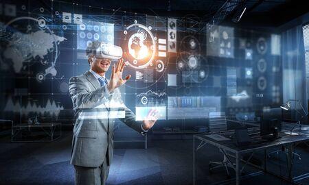 Virtual-Reality-Erfahrung. Technologien der Zukunft.