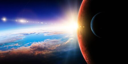 Abstract planets and space background Stock fotó - 128812958